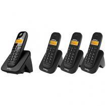 Telefone Sem Fio Intelbras Identific. de Chamadas - Chamada em Conferência TS 3110 + 3 Ramais Sem Fio
