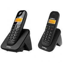 Telefone Sem Fio Intelbras Identific. de Chamadas - Chamada em Conferência - TS 3110 + Ramal Sem Fio