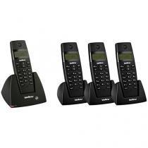 Telefone sem Fio Intelbras - Identificador de chamadas + 3 Ramais sem Fio
