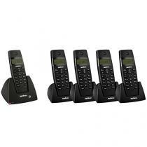 Telefone sem Fio Intelbras - Identificador de chamadas + 4 Ramais Sem fio