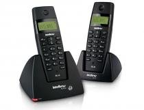 Telefone sem fio Intelbras TS 40 C Preto Identificador de Chamadas - Panasonic