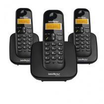 Telefone Sem Fio Intelbras TS3113 + 2 Ramais, - Preto -