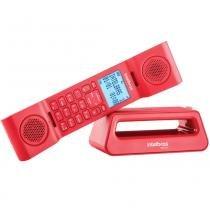 Telefone Sem Fio Intelbras TS8520 Vermelho, Viva Voz, Identificador De Chamadas - 4128528 -