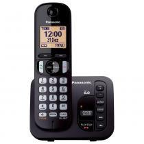 Telefone sem Fio KX-TGC220LBB Preto Dect 6.0, Secretária Eletrônica, Viva-Voz - Panasonic -