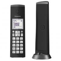 Telefone sem Fio KX-TGK210LBB Preto com Identificador de Chamadas + Viva Voz - Panasonic -
