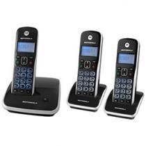Telefone Sem Fio Motorola AURI 3500 MRD3 2 Ramais - de Mesa com Identificador de Chamadas Preto