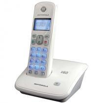 Telefone sem fio motorola, identificador de chamadas, visor e teclado luminoso, branco - auri3500w - Motorola