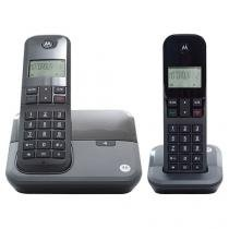 Telefone Sem Fio Motorola MOTO 3000 MRD2 1 Ramal - de Mesa com Identificador de Chamadas Preto