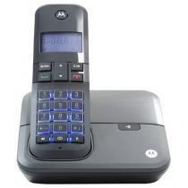 Telefone Sem Fio Motorola MOTO 4000 de Mesa - com Identificador de Chamadas com Viva Voz Preto