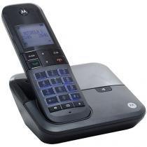 Telefone Sem Fio Motorola MOTO 6000 de Mesa - com Identificador de Chamadas com Viva Voz Preto