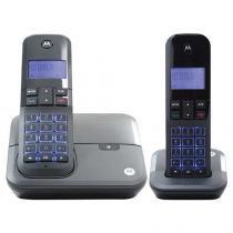 Telefone Sem Fio Motorola MOTO4000 MRD2 + 1 Ramal - Identificador de Chamada Viva Voz Preto