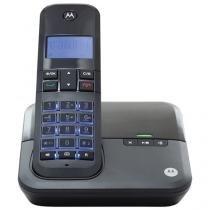 Telefone Sem Fio Motorola MOTO4000SE Multi Ramal - com Identificador de Chamadas e Viva Voz Preto