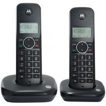 Telefone Sem Fio Motorola MOTO500-ID2 1 Ramal - de Mesa com Identificador de Chamadas Preto