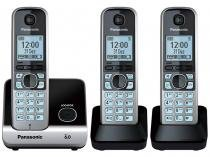 Telefone Sem Fio Panasonic Até 6 ramais - Identificador de Chamadas KX-TG6713LBB Viva Voz -
