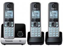 Telefone Sem Fio Panasonic Até 6 ramais - Identificador de Chamadas KX-TG6713LBB Viva Voz - Panasonic