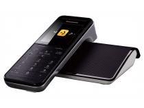 Telefone Sem Fio Panasonic KX-PRW110LBW - Identificador de Chamada Viva Voz Preto