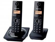 Telefone sem fio Panasonic KX-TG1712LB Black Piano Identificação de - Panasonic