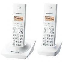 Telefone sem Fio Panasonic KX-TG1712LBW + Ramal - Branco -