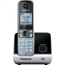 Telefone sem Fio Panasonic KX-TG6711LBB, Preto e Prata, Dect 6.0 - Panasonic