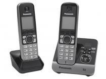 Telefone Sem Fio Panasonic KX-TG6722LBB 1 Ramal - com Identificador de Chamadas com Viva Voz