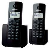 Telefone sem Fio Panasonic KX-TGB112LBB, Preto, Dect 6.0, Visor com ID, + 1 Ramal - Panasonic