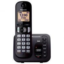 Telefone Sem Fio Panasonic KX-TGC220LBB, Dect 6.0 , Secretária Eletrônica , Viva-Voz - Preto - Panasonic