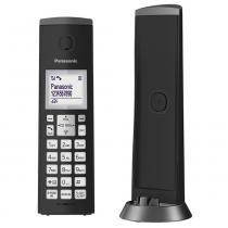 Telefone sem Fio Panasonic KX-TGK210LBB, Identificador, Viva Voz - Preto -