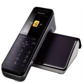 Telefone sem Fio Panasonic PRW110, Branco e Preto, Smartphone Connect, Wi-Fi, Babá Eletrônica -