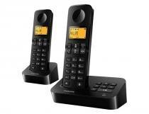 Telefone sem fio Philips D2052B Identificador de Chamadas Acompanha - Philips