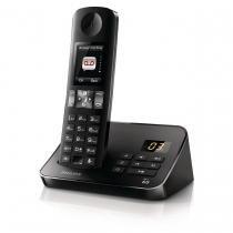 Telefone sem Fio Philips D6051B Preto com Viva Voz/Secretária e Babá Eletrônica - Preto - Philips