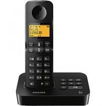 Telefone sem Fio Philips Preto Secretaria Eletrônica - Philips