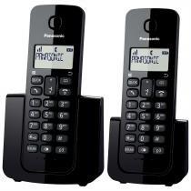 Telefone Sem Fio Preto Com Base E Ramal Kx-Tgb112lbb Panasonic -