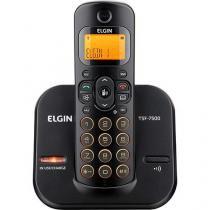Telefone sem Fio Preto com Laranja Identificador de Chamada Bivolt Elgin TSF 7500 ID -