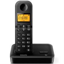 Telefone Sem Fio Preto Dect 6.0  D1501b-Br Philips - Philips