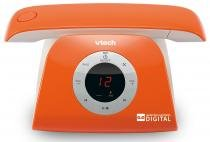 Telefone sem fio VTech Retro Phone L - Identificador de Chamada Viva Voz Laranja -