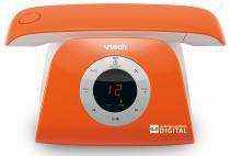 Telefone sem fio VTech Retro Phone L - Identificador de Chamada Viva Voz Laranja - Vtech