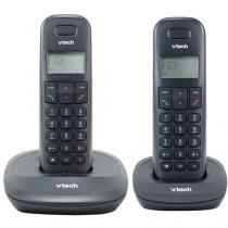 Telefone Sem Fio VTech VT600 1 Ramal de Mesa - com Identificador de Chamadas Preto