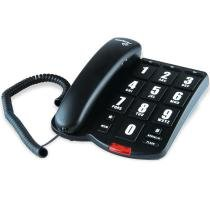 Telefone Tok Fácil Preto com Fio e Teclas Grandes - Intelbras - Intelbras