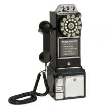 Telefone Vintage Classic Watson Preto - Maria pia casa