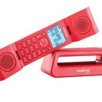 Telefones Sem Fio Intelbras Icon TS 8520 Vermelho Com Identificador de Chamada E Viva Voz - Ts8520 - Intelbras