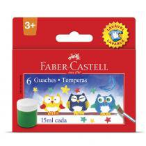 Tempera Guache Lavável Faber Castell 6 Cores 15ml - Faber-castell