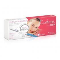 Teste de gravidez confirme em tira 1 teste + tubo coletor -