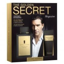 The Golden Secret Antonio Banderas - Masculino - Eau de Toilette - Perfume + Loção Pós Barba - Antonio Banderas