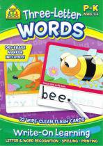 Three-letter words - flash cards - School zone