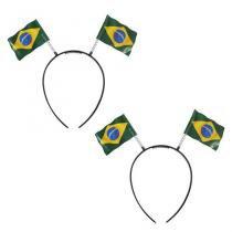 Tiara Bandeira do Brasil 10 unidades Festança - Festabox