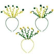Tiara Mola Maluca Verde e Amarela Brasil 12 unidades CP006 - Festabox