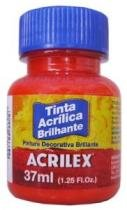 Tinta Acrílica Brilhante 37ml Vermelho Fogo 507 Acrilex - 1