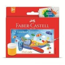 Tinta guache estojo com 12 cores Faber-Castell -