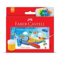 Tinta guache - HT161112 - estojo com 12 cores - Faber-Castell -