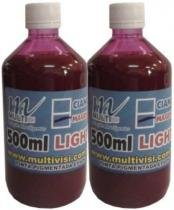 Tinta pigmentada magenta light para epson e brother (1 litro) - Visutec